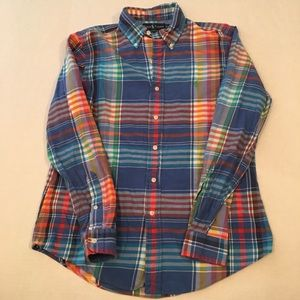 Polo Ralph Lauren plaid striped logo button shirt